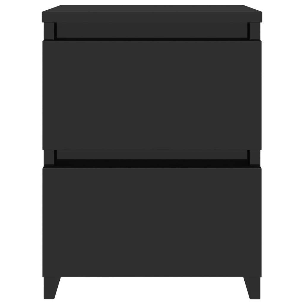 Bedside Cabinets 2 pcs High Gloss Black 30x30x40 cm Chipboard 5
