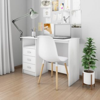 Desk with Drawers White 100x50x76 cm Chipboard 1