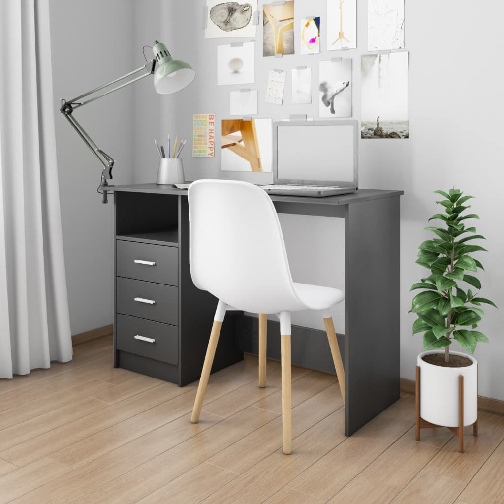 Desk with Drawers Black 100x50x76 cm Chipboard 1
