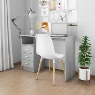 Desk with Drawers Grey 100x50x76 cm Chipboard 1