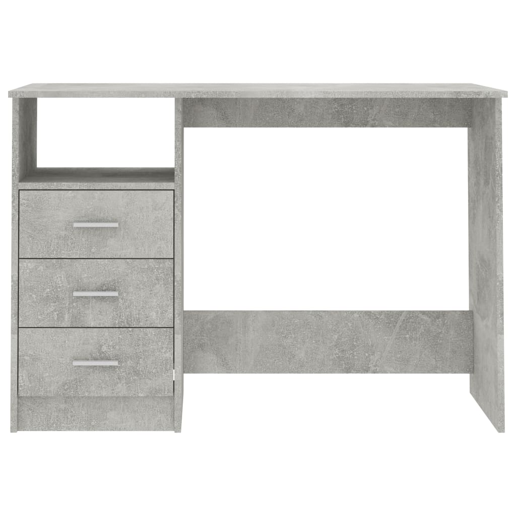 Desk with Drawers Concrete Grey 100x50x76 cm Chipboard 4