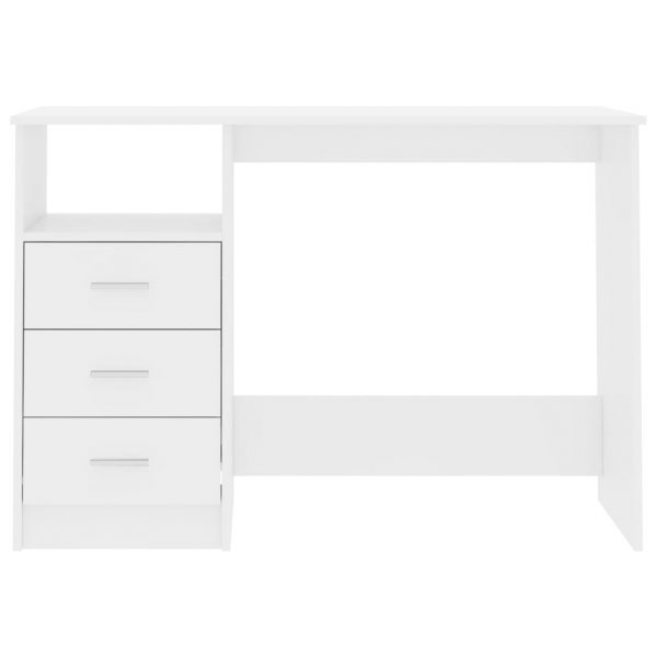 Desk with Drawers High Gloss White 100x50x76 cm Chipboard 4