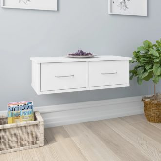 Wall-mounted Drawer Shelf White 60x26x18