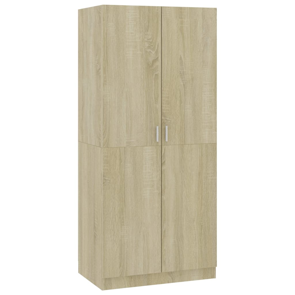 Wardrobe Sonoma Oak 80x52x180 cm Chipboard 2