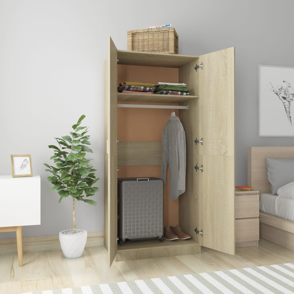 Wardrobe Sonoma Oak 80x52x180 cm Chipboard 3
