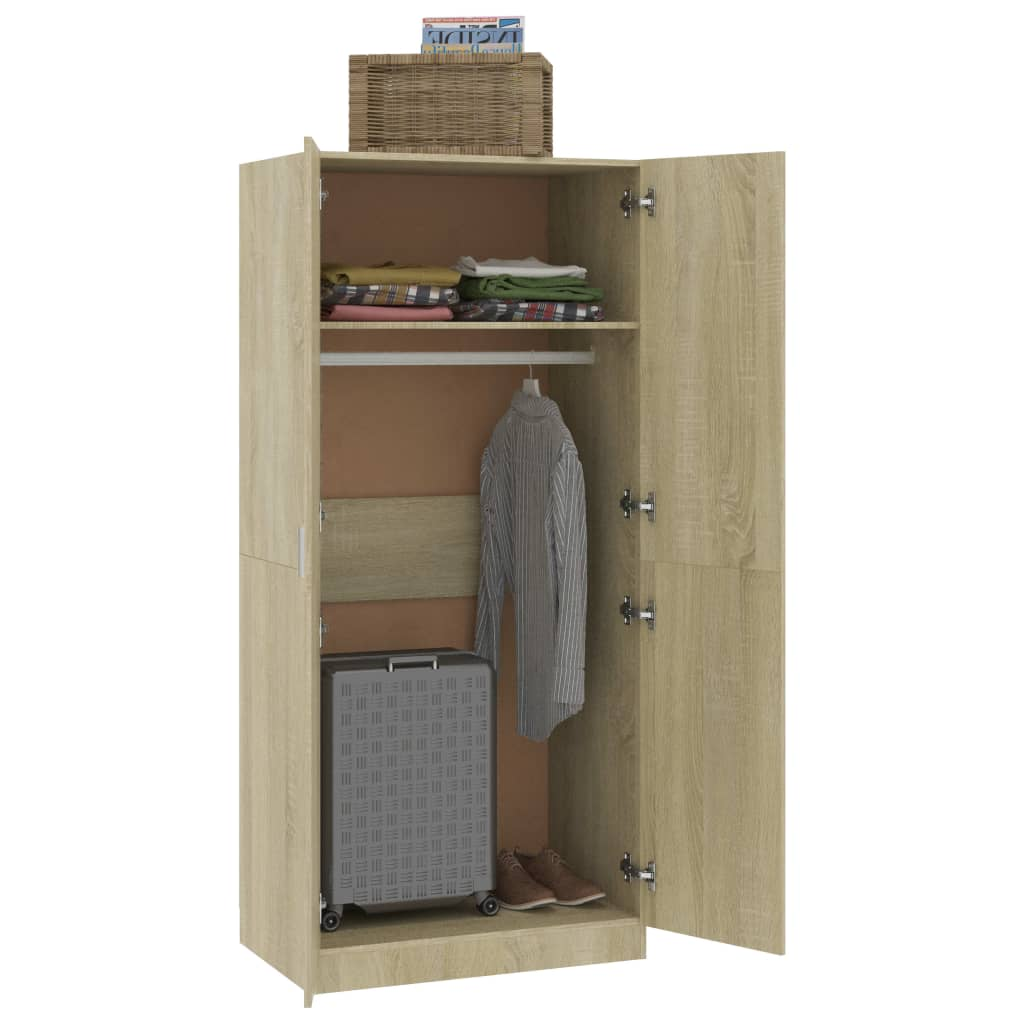 Wardrobe Sonoma Oak 80x52x180 cm Chipboard 4