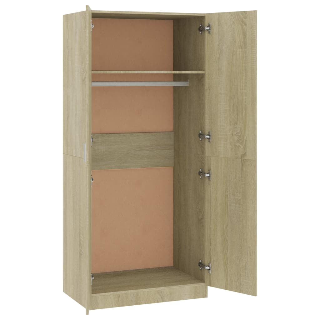 Wardrobe Sonoma Oak 80x52x180 cm Chipboard 5