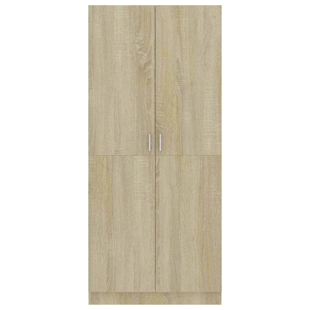 Wardrobe Sonoma Oak 80x52x180 cm Chipboard 6