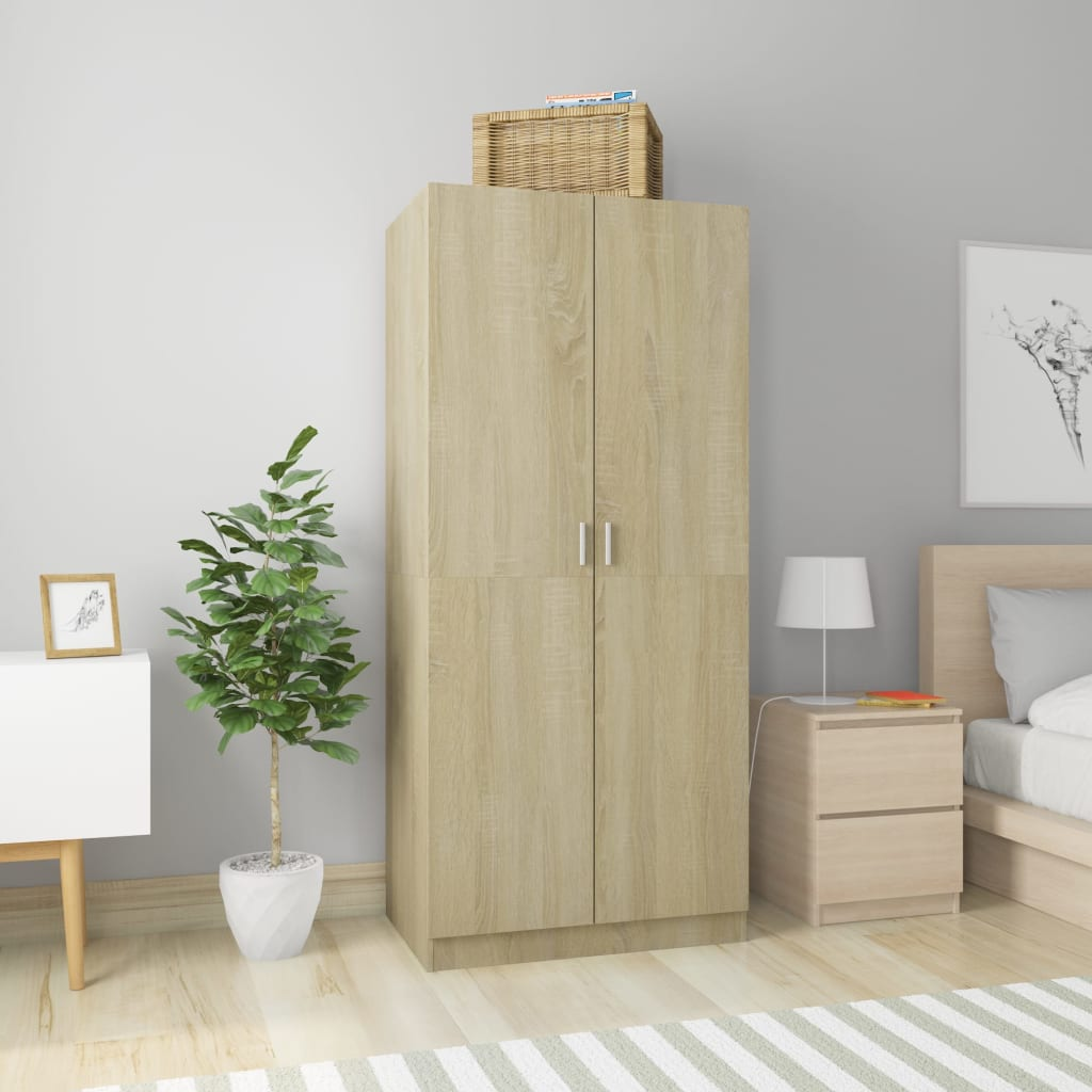Wardrobe Sonoma Oak 80x52x180 cm Chipboard 1