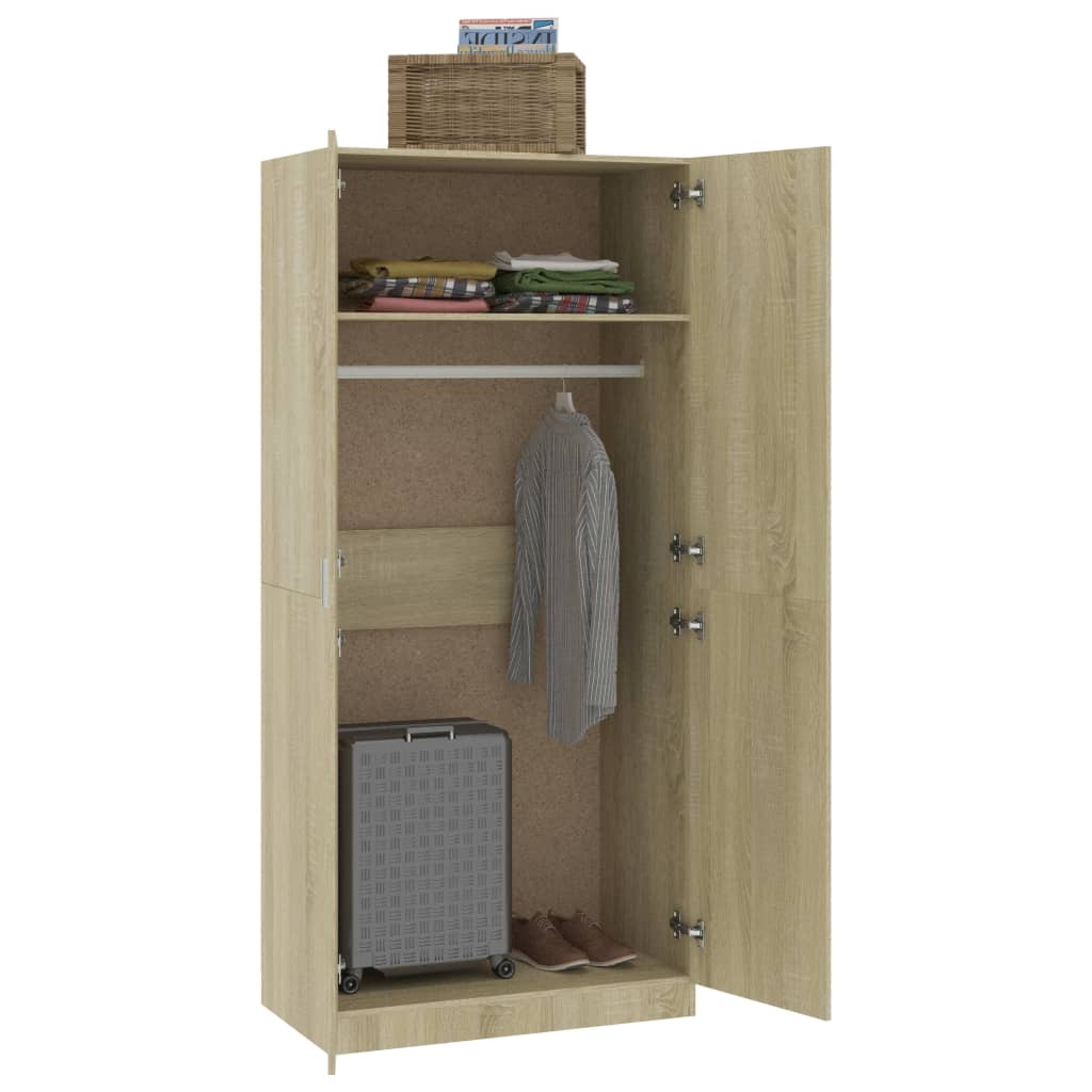 Wardrobe Sonoma Oak 90x52x200 cm Chipboard 4