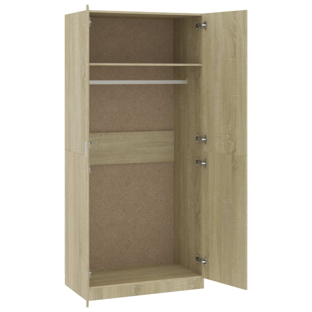 Wardrobe Sonoma Oak 90x52x200 cm Chipboard 5
