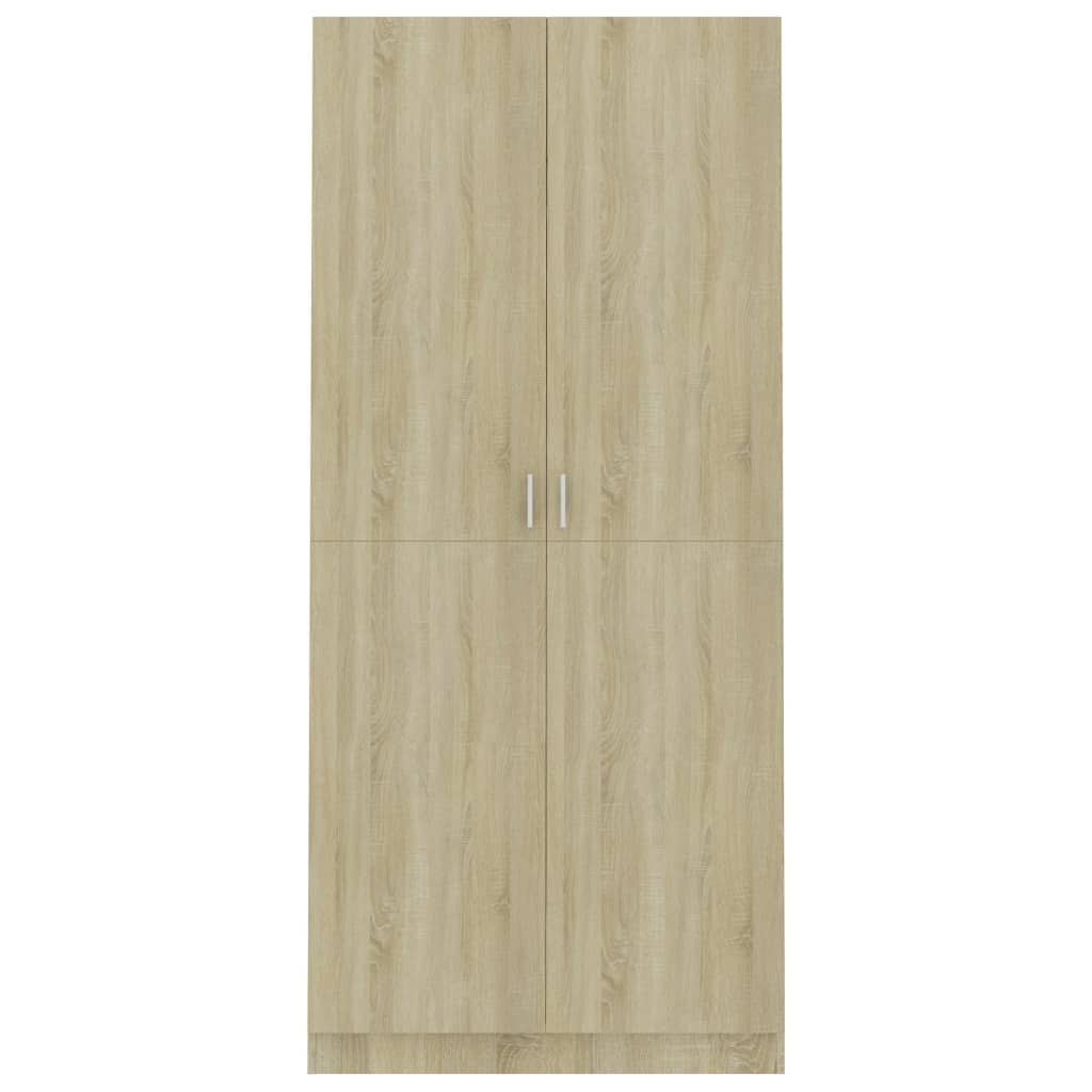 Wardrobe Sonoma Oak 90x52x200 cm Chipboard 6
