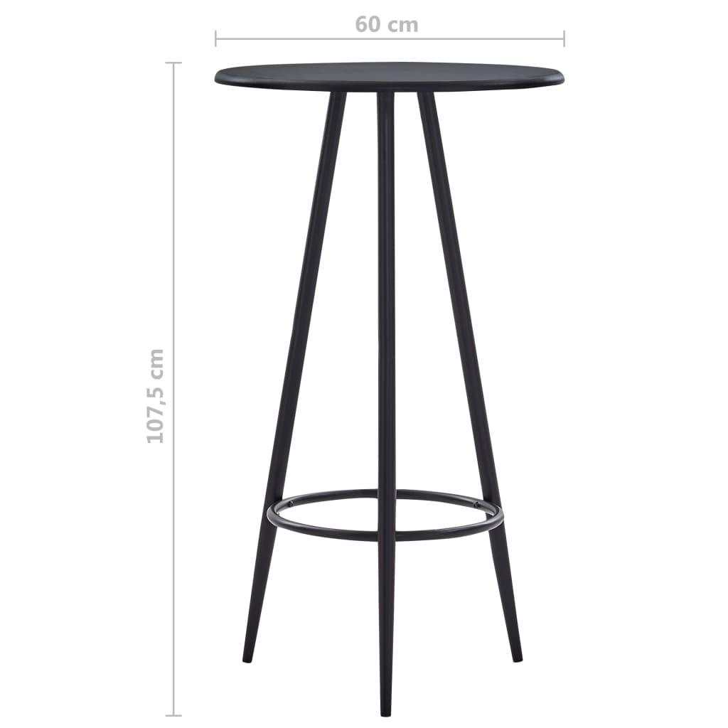 Bar Table Black 60×107