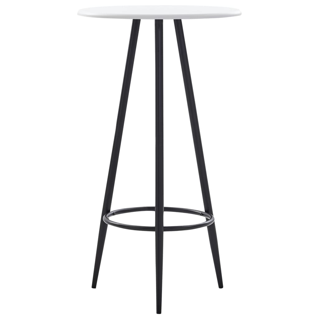 Bar Table White 60x107.5 cm MDF