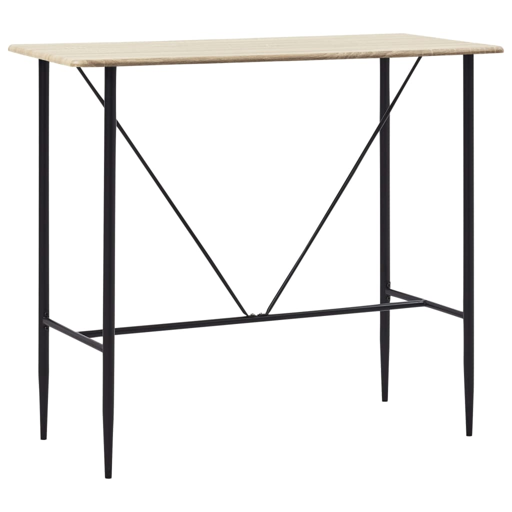 Bar Table Oak 120x60x110 cm MDF 1