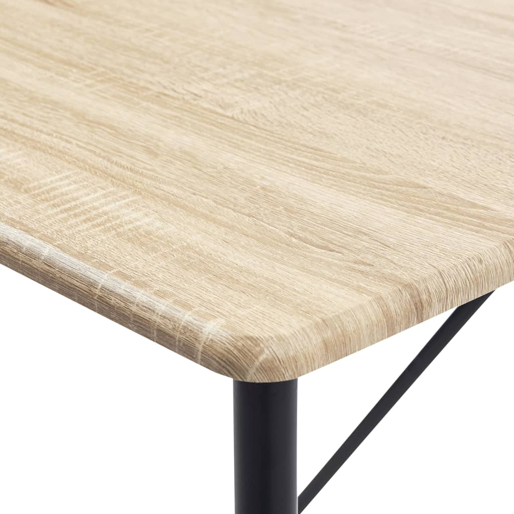 Bar Table Oak 120x60x110 cm MDF 5