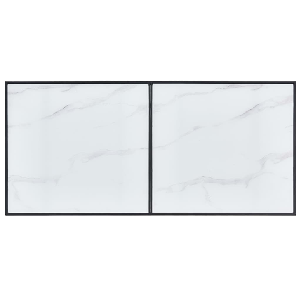 Dining Table White 140x70x75 cm Tempered Glass 4