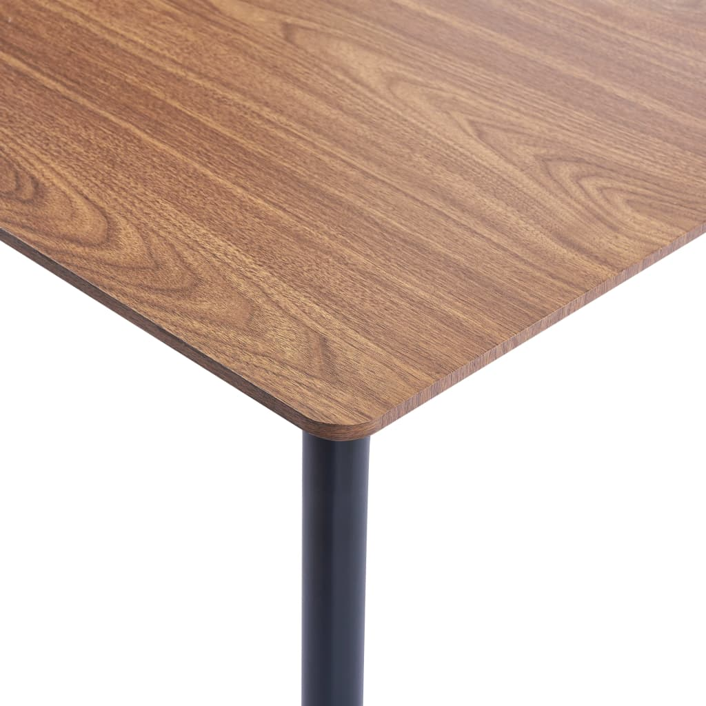 Dining Table Brown 180x90x75 cm MDF 4