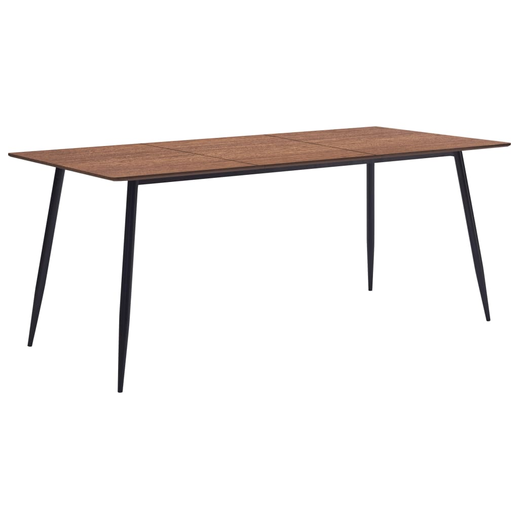 Dining Table Brown 200x100x75 cm MDF 1