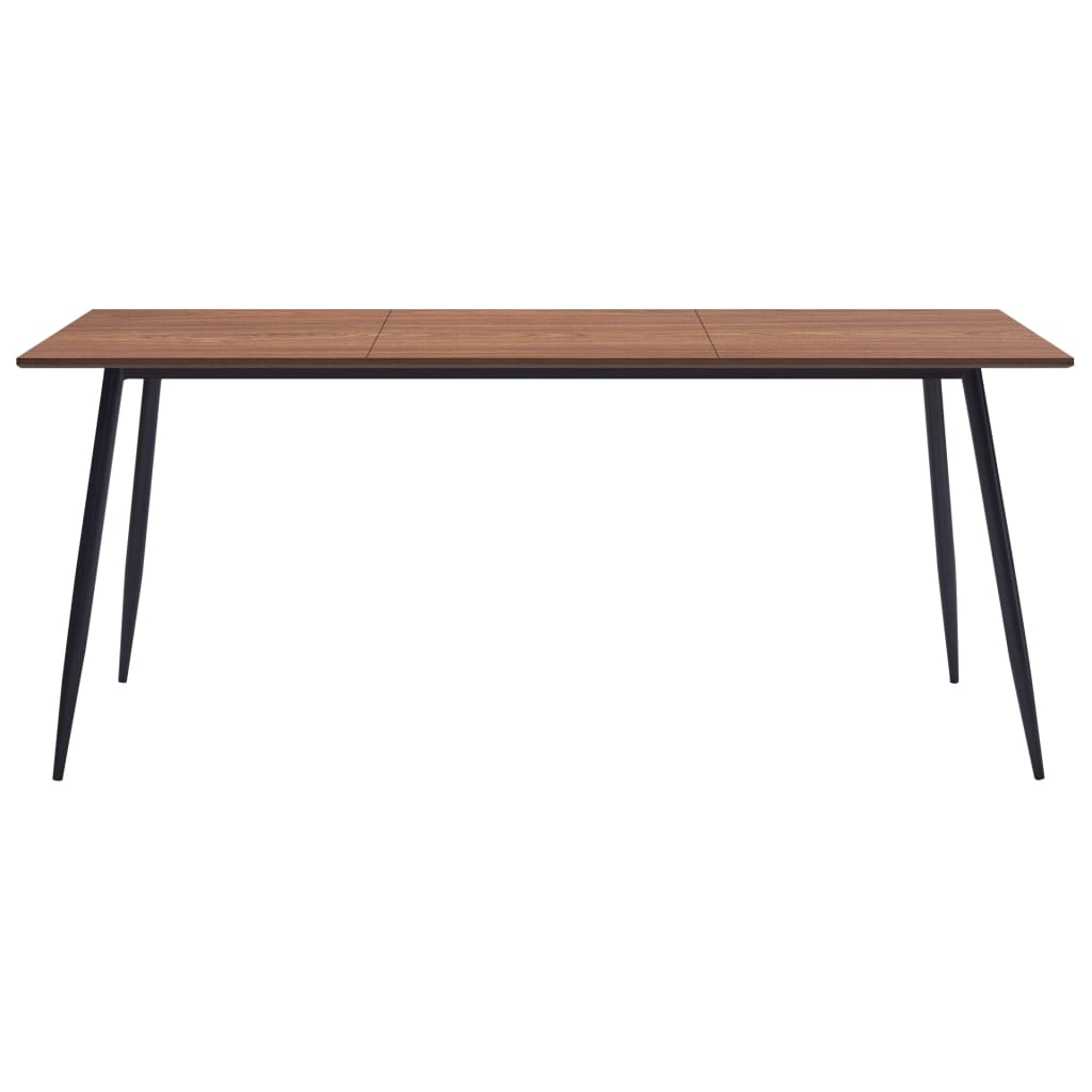 Dining Table Brown 200x100x75 cm MDF 2