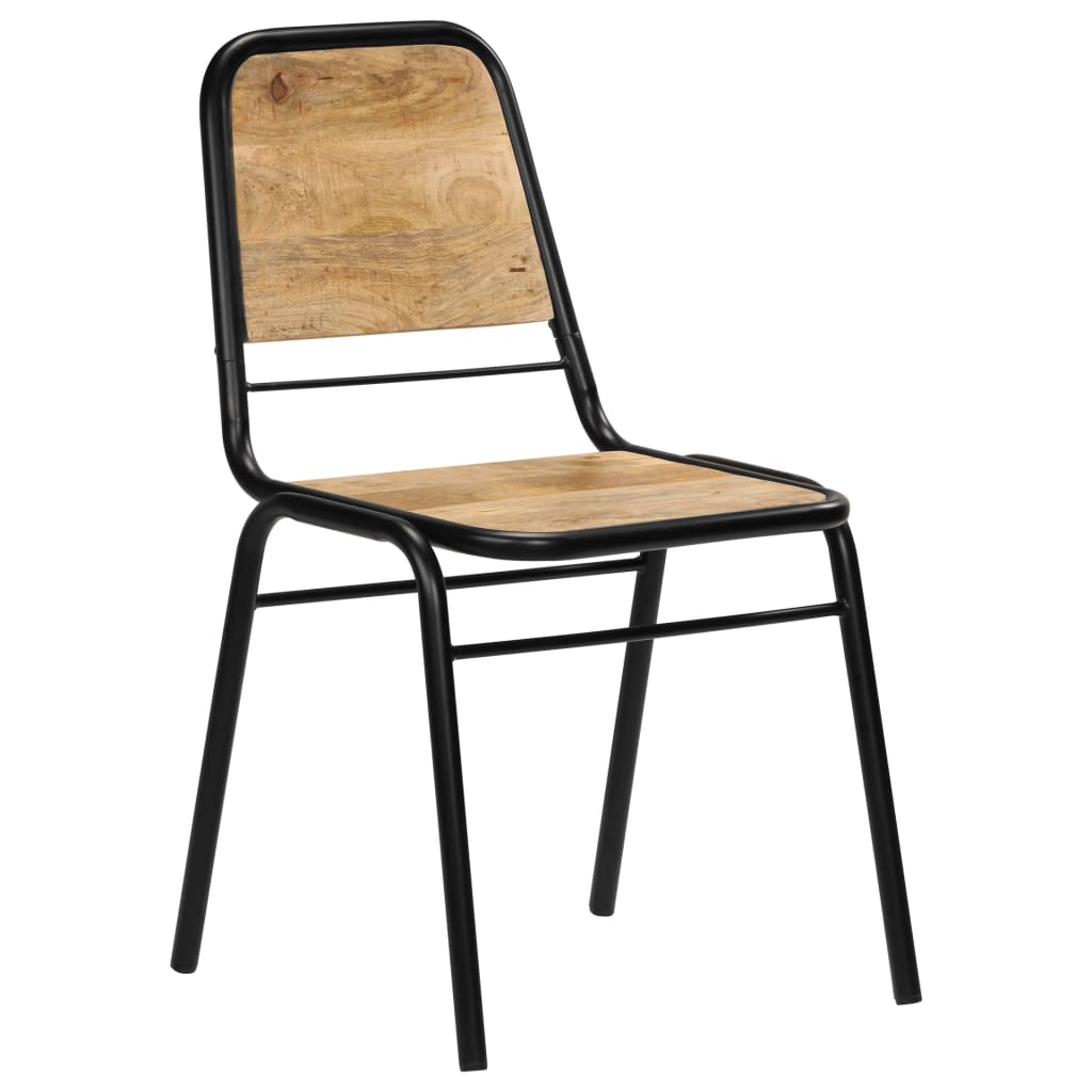 Dining Chairs 4 pcs Solid Mango Wood 11