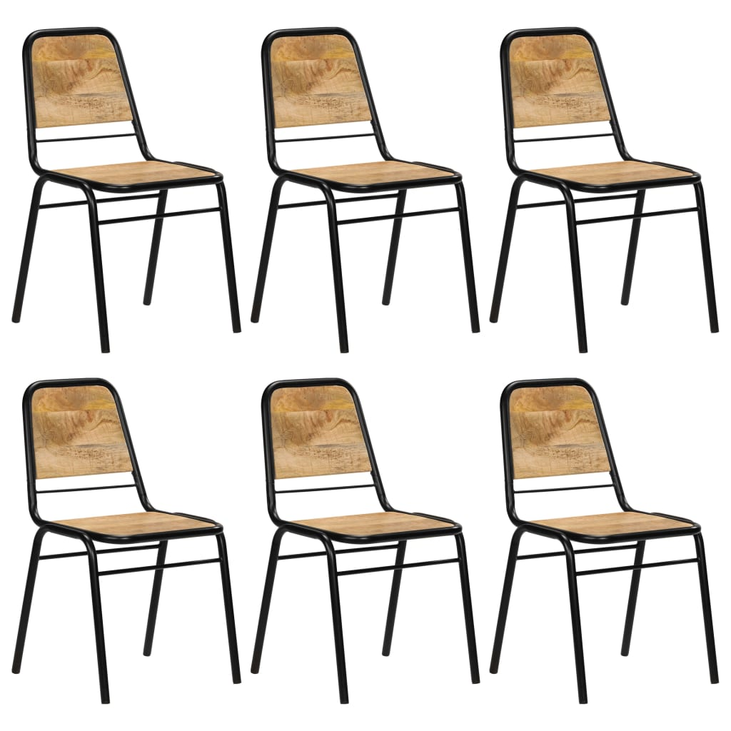 Dining Chairs 6 pcs Solid Mango Wood 1