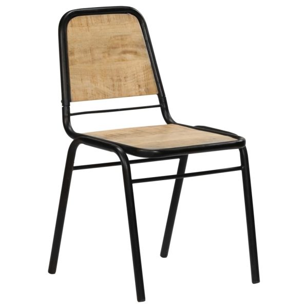 Dining Chairs 6 pcs Solid Mango Wood 2