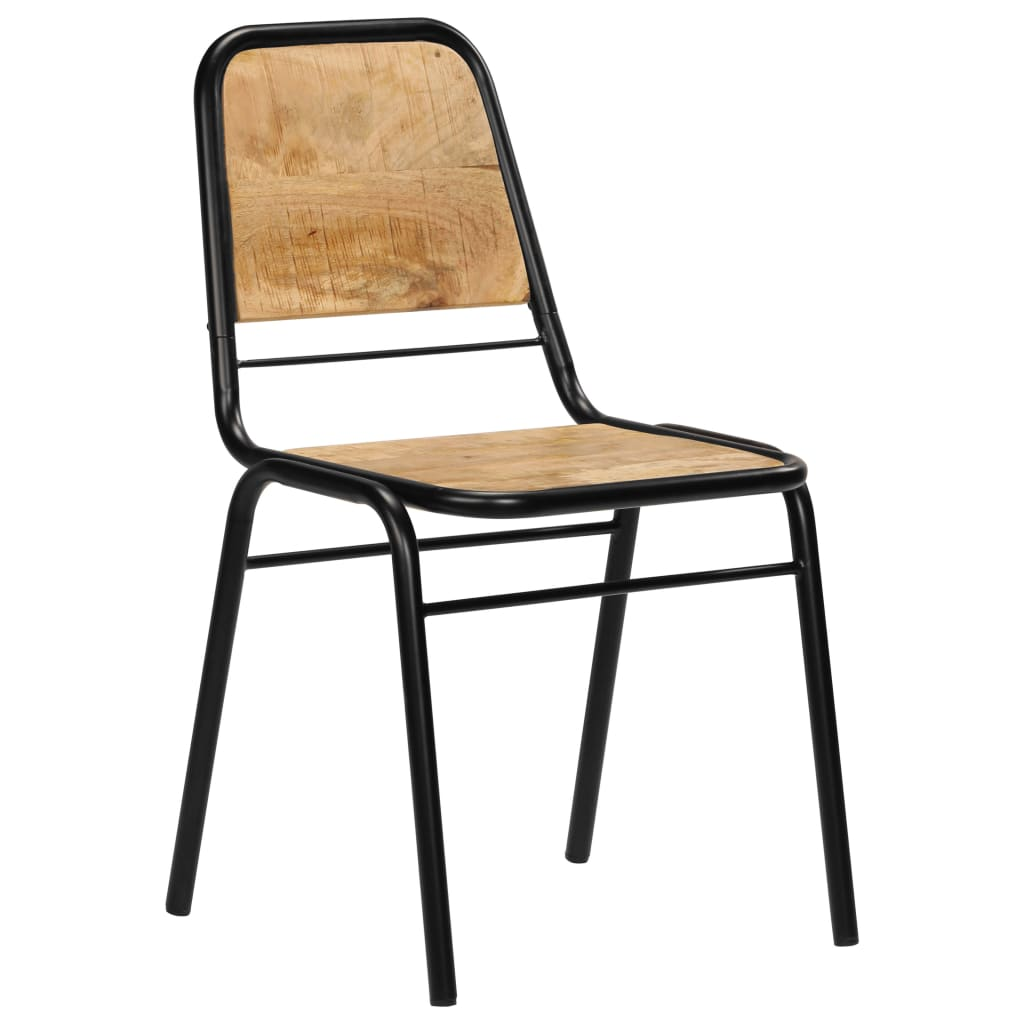 Dining Chairs 6 pcs Solid Mango Wood 11