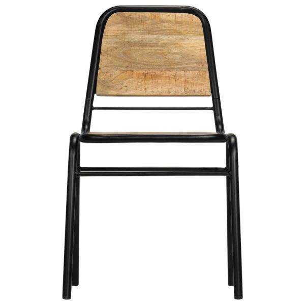 Dining Chairs 6 pcs Solid Mango Wood 3