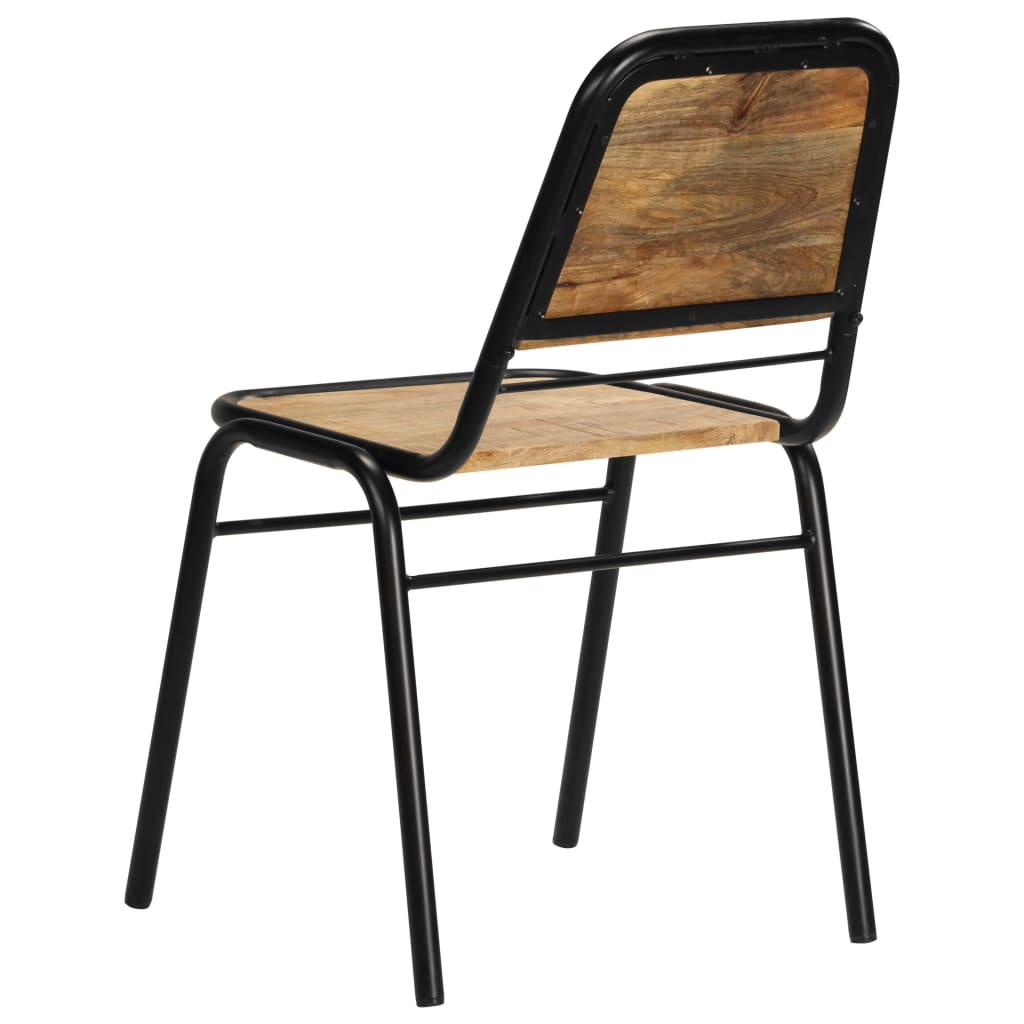 Dining Chairs 6 pcs Solid Mango Wood 4