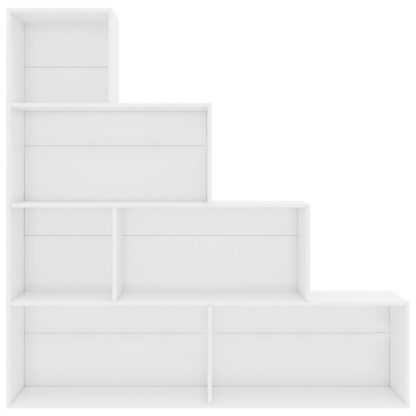 Book Cabinet/Room Divider High Gloss White 155x24x160 cm Chipboard 3