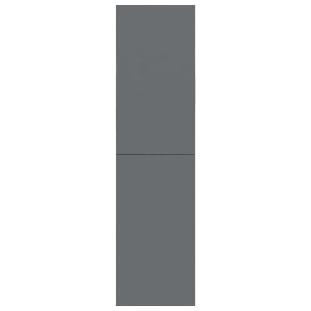 Book Cabinet/Room Divider High Gloss Grey 155x24x160 cm Chipboard 5