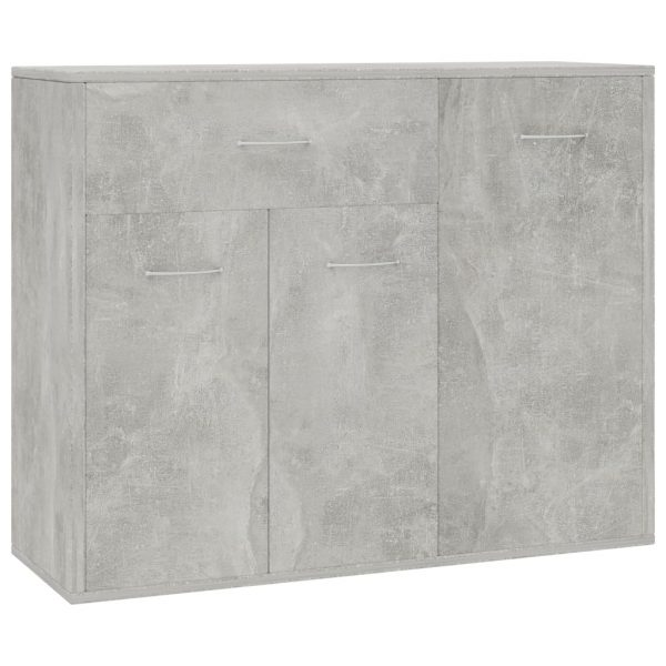 Sideboard Concrete Grey 88x30x70 cm Chipboard 2