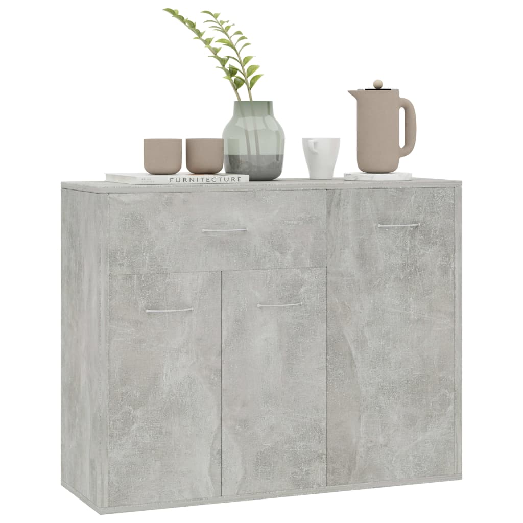 Sideboard Concrete Grey 88x30x70 cm Chipboard 3
