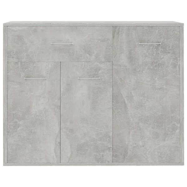 Sideboard Concrete Grey 88x30x70 cm Chipboard 4