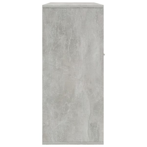 Sideboard Concrete Grey 88x30x70 cm Chipboard 5