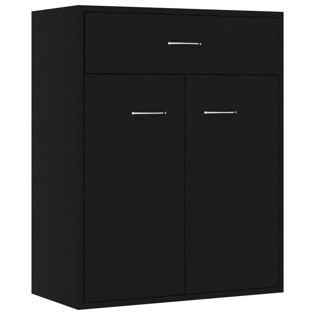 Sideboard Black 60x30x75 cm Chipboard 2