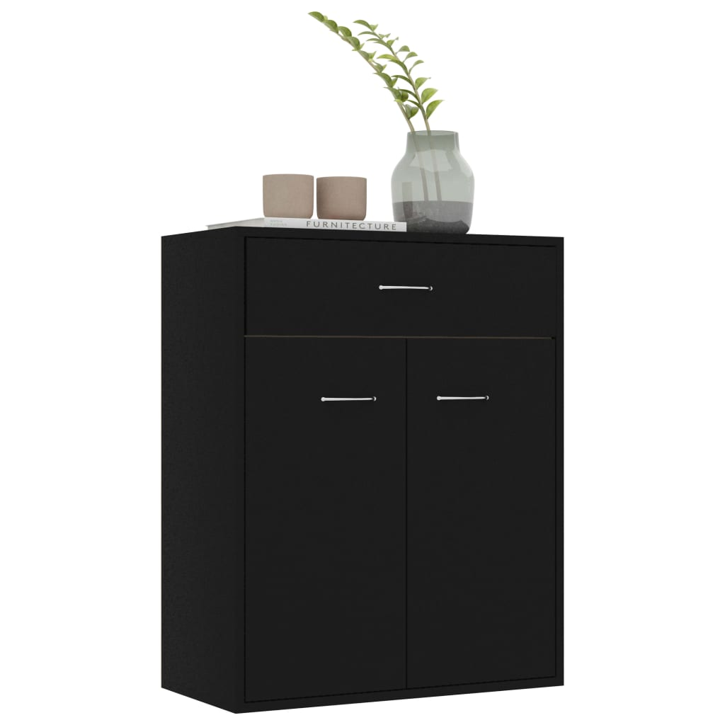 Sideboard Black 60x30x75 cm Chipboard 4