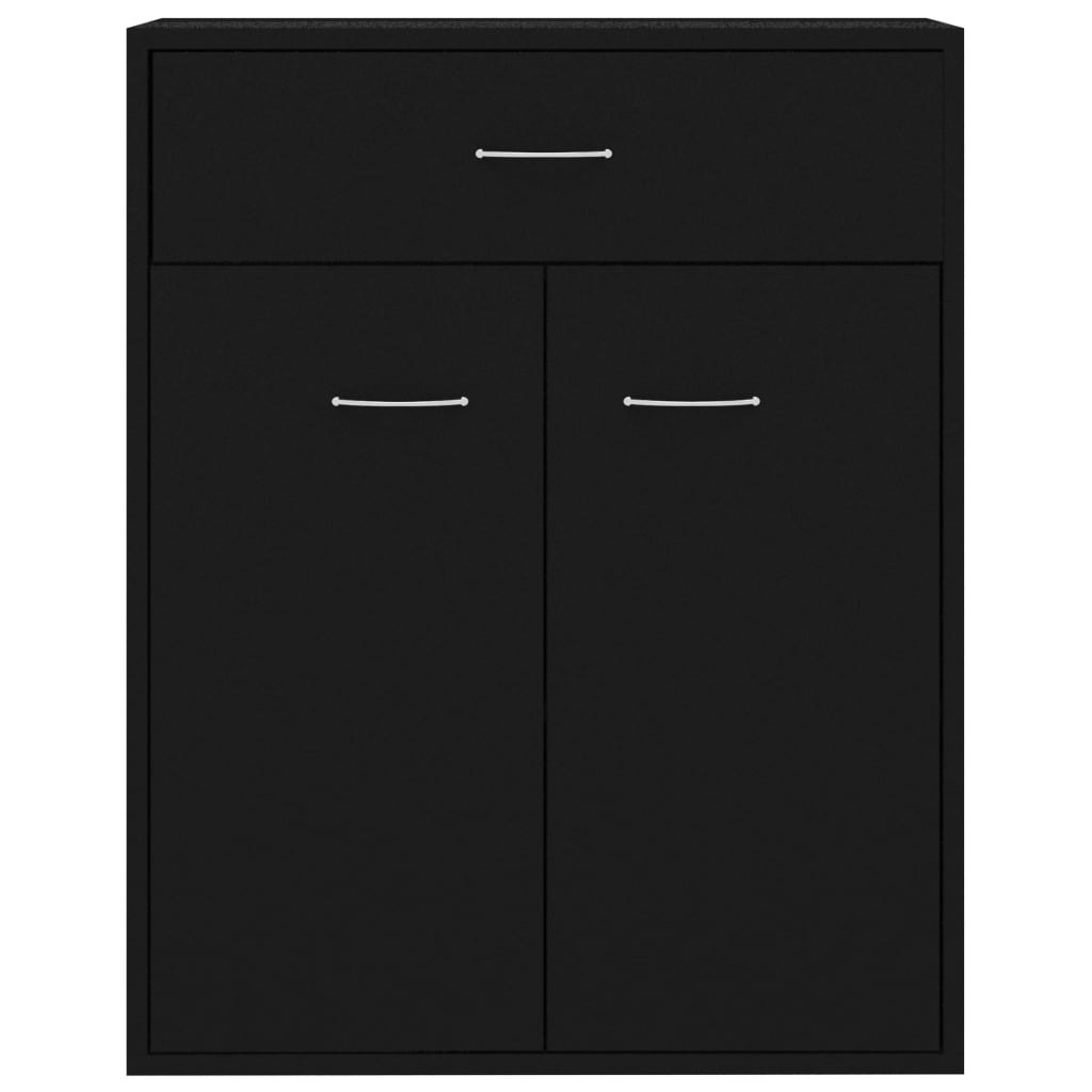 Sideboard Black 60x30x75 cm Chipboard 7