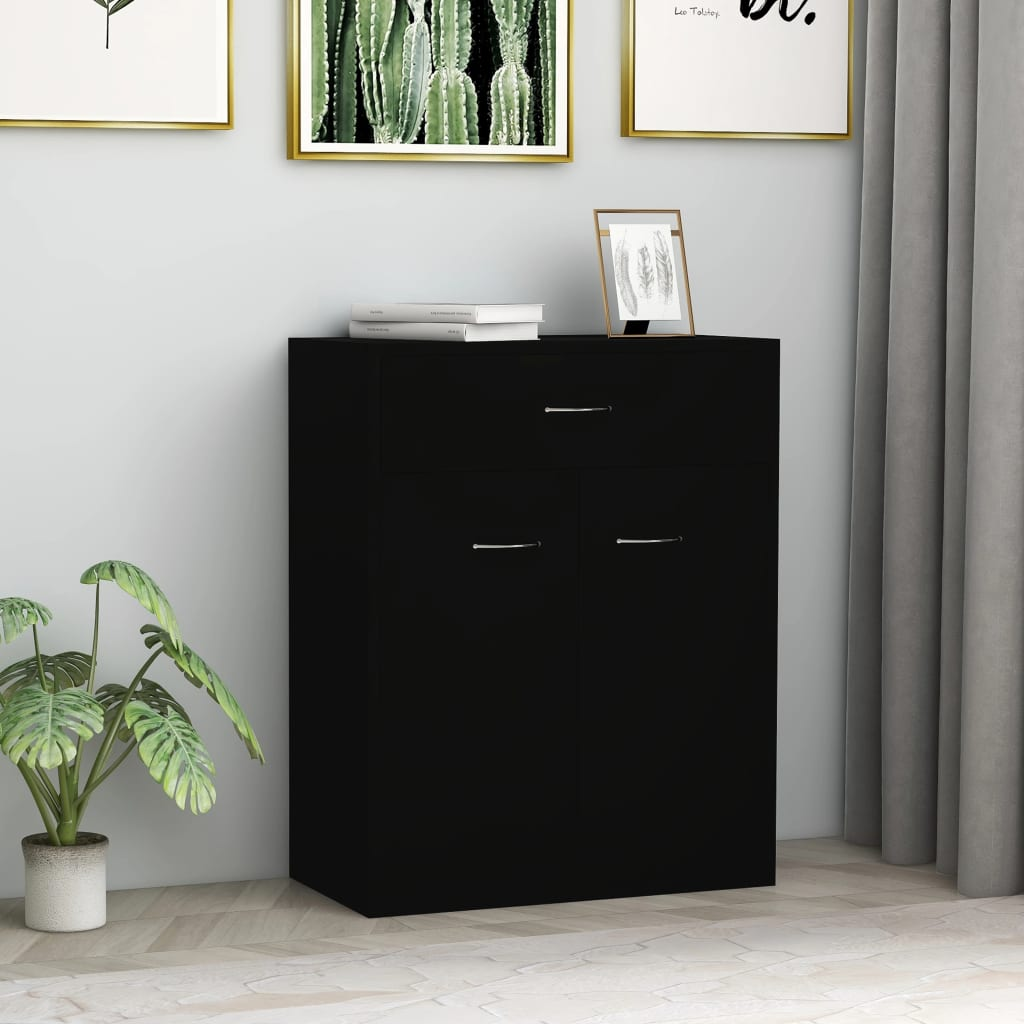 Sideboard Black 60x30x75 cm Chipboard 1