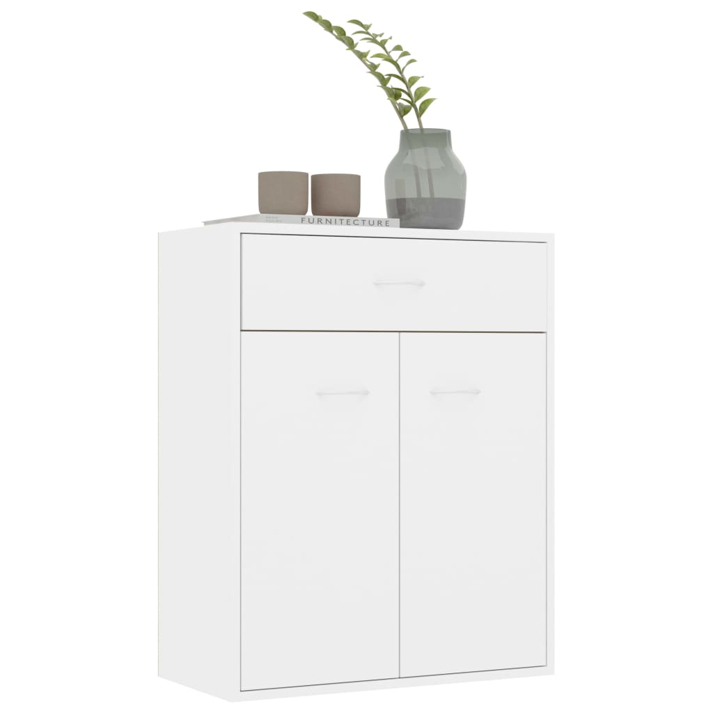 Sideboard High Gloss White 60x30x75 cm Chipboard 5