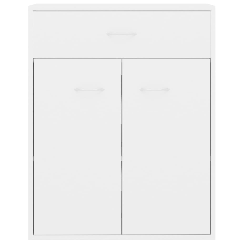 Sideboard High Gloss White 60x30x75 cm Chipboard 7