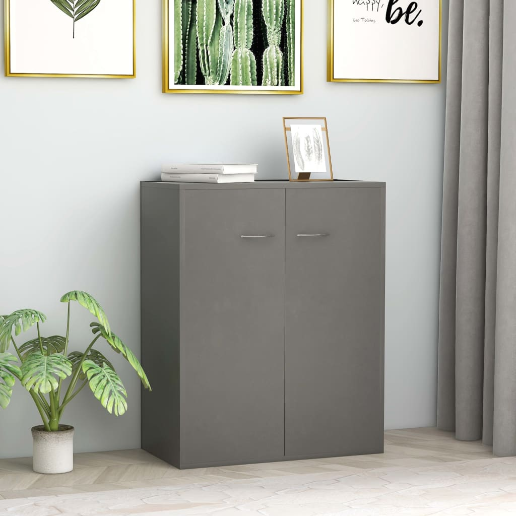 Sideboard Grey 60x30x75 cm Chipboard 1