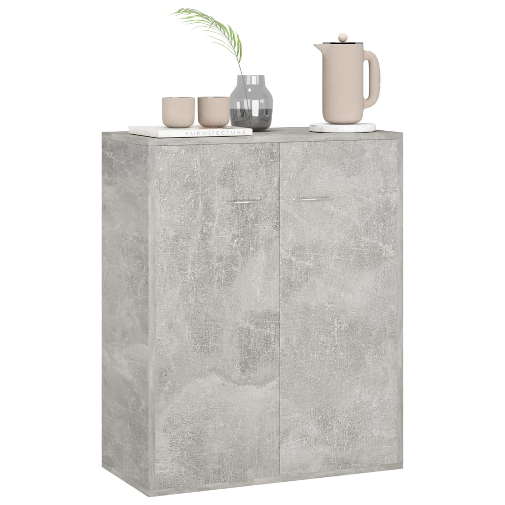 Sideboard Concrete Grey 60x30x75 cm Chipboard 3