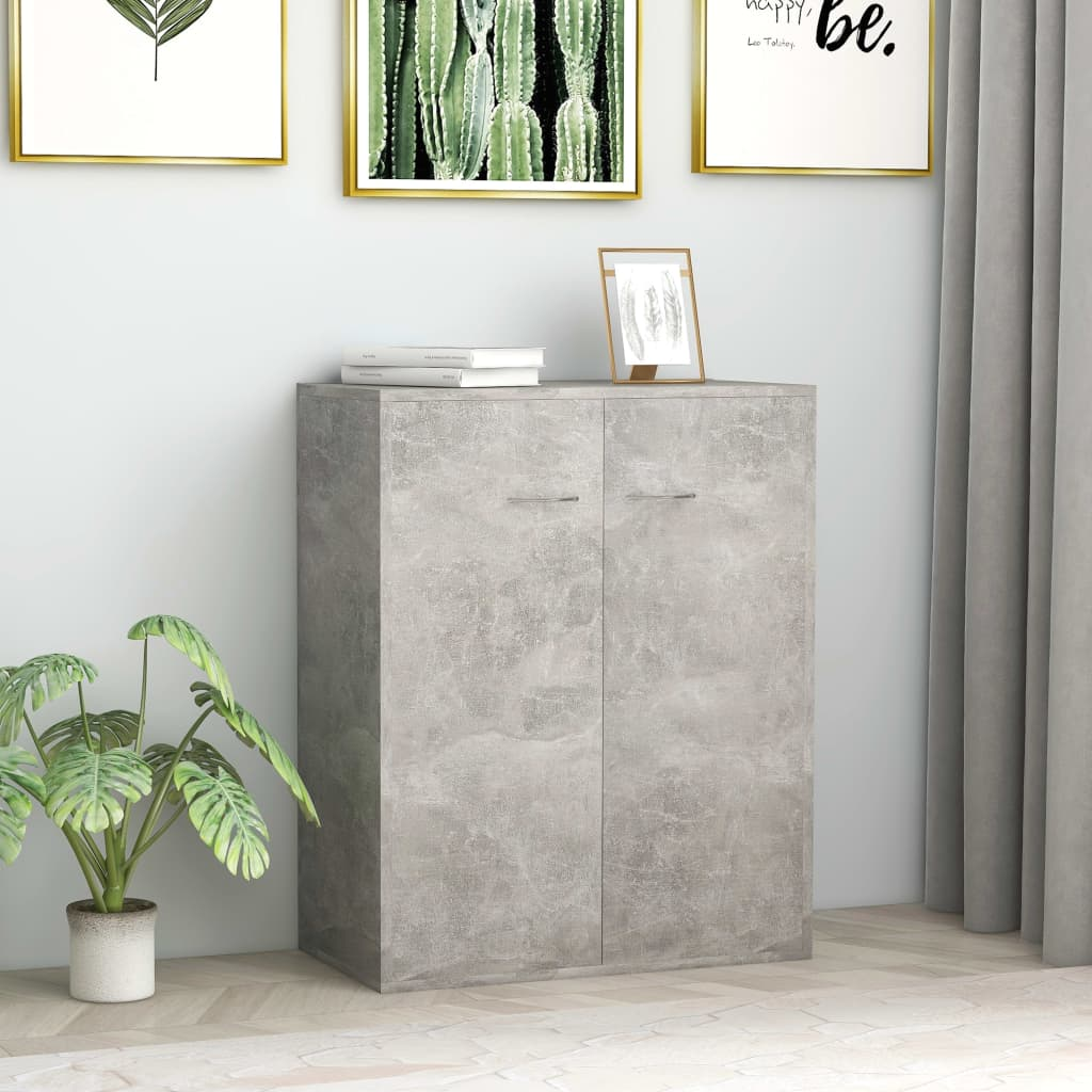 Sideboard Concrete Grey 60x30x75 cm Chipboard 1