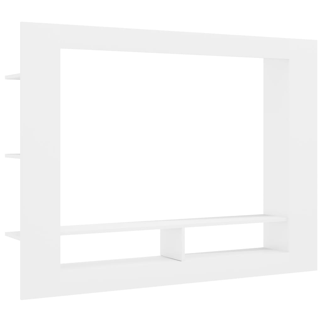 TV Cabinet High Gloss White 152x22x113 cm Chipboard 2