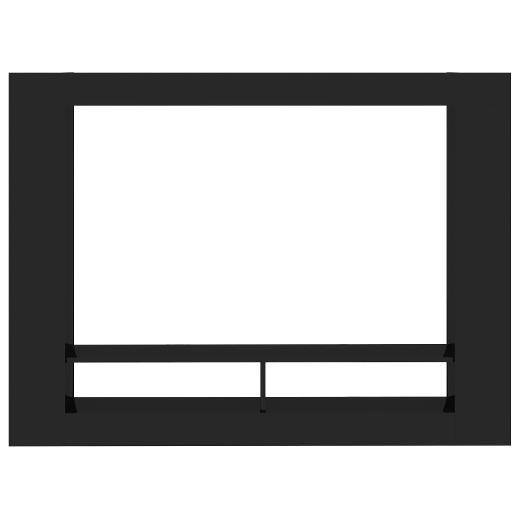 TV Cabinet High Gloss Black 152x22x113 cm Chipboard 4