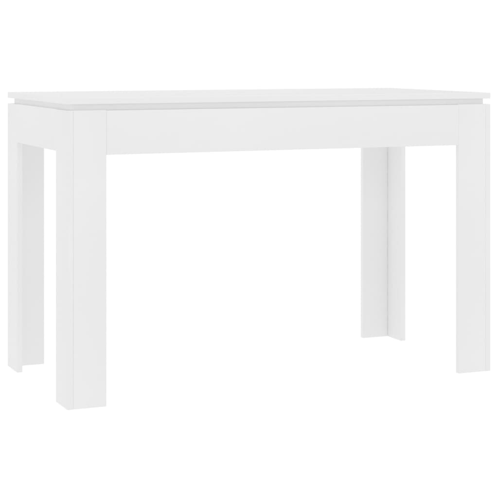 Dining Table White 120x60x76 cm Chipboard 2