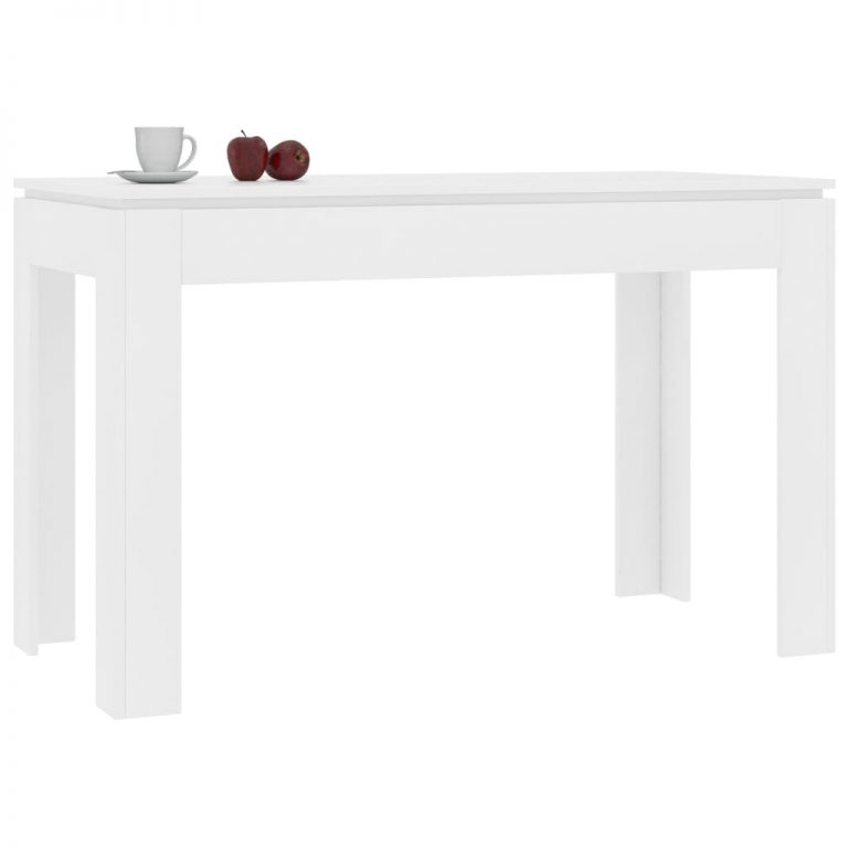 Dining Table White 120x60x76 cm Chipboard 3