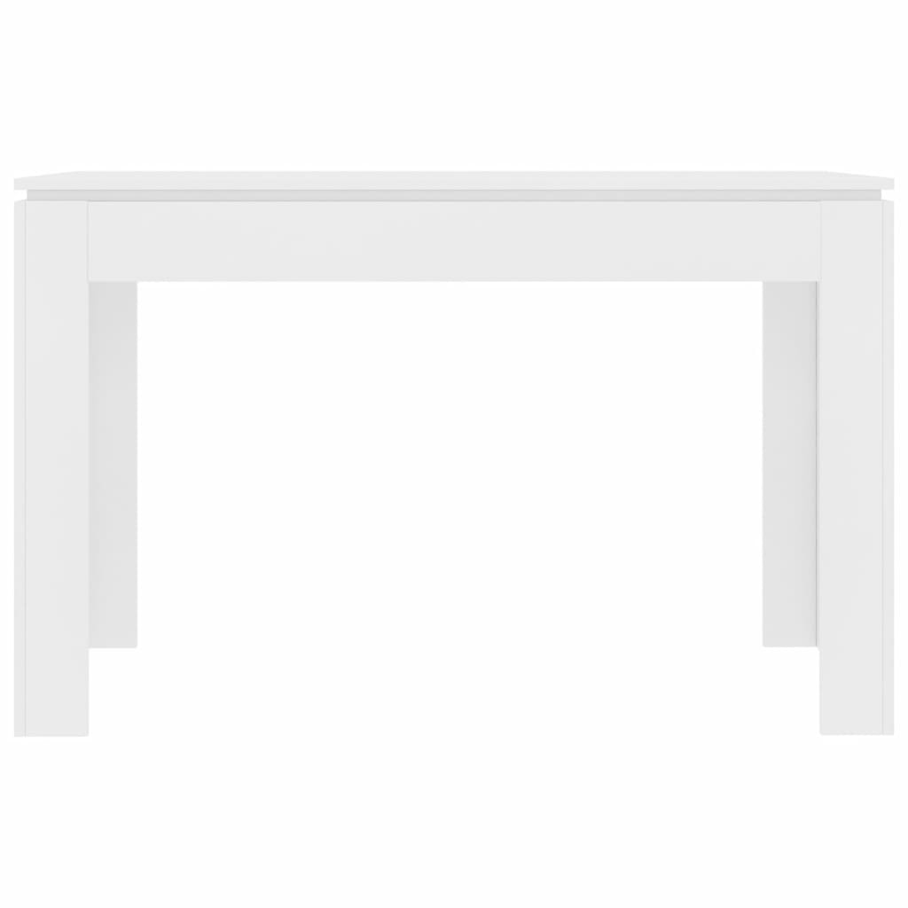 Dining Table White 120x60x76 cm Chipboard 4